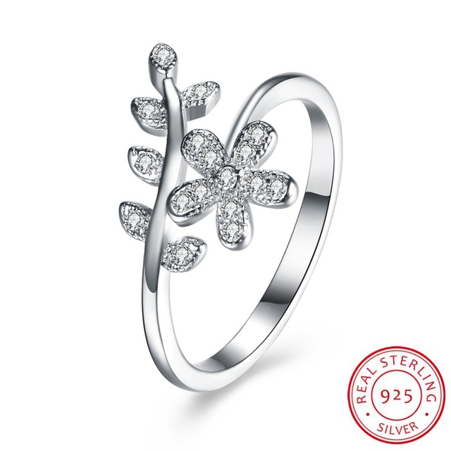 8c907b09d92c 925 Sterling Silver Flower Shaped Stone Ring Joyas De Plata 925 Con Piedras  Naturales Joyas Plata