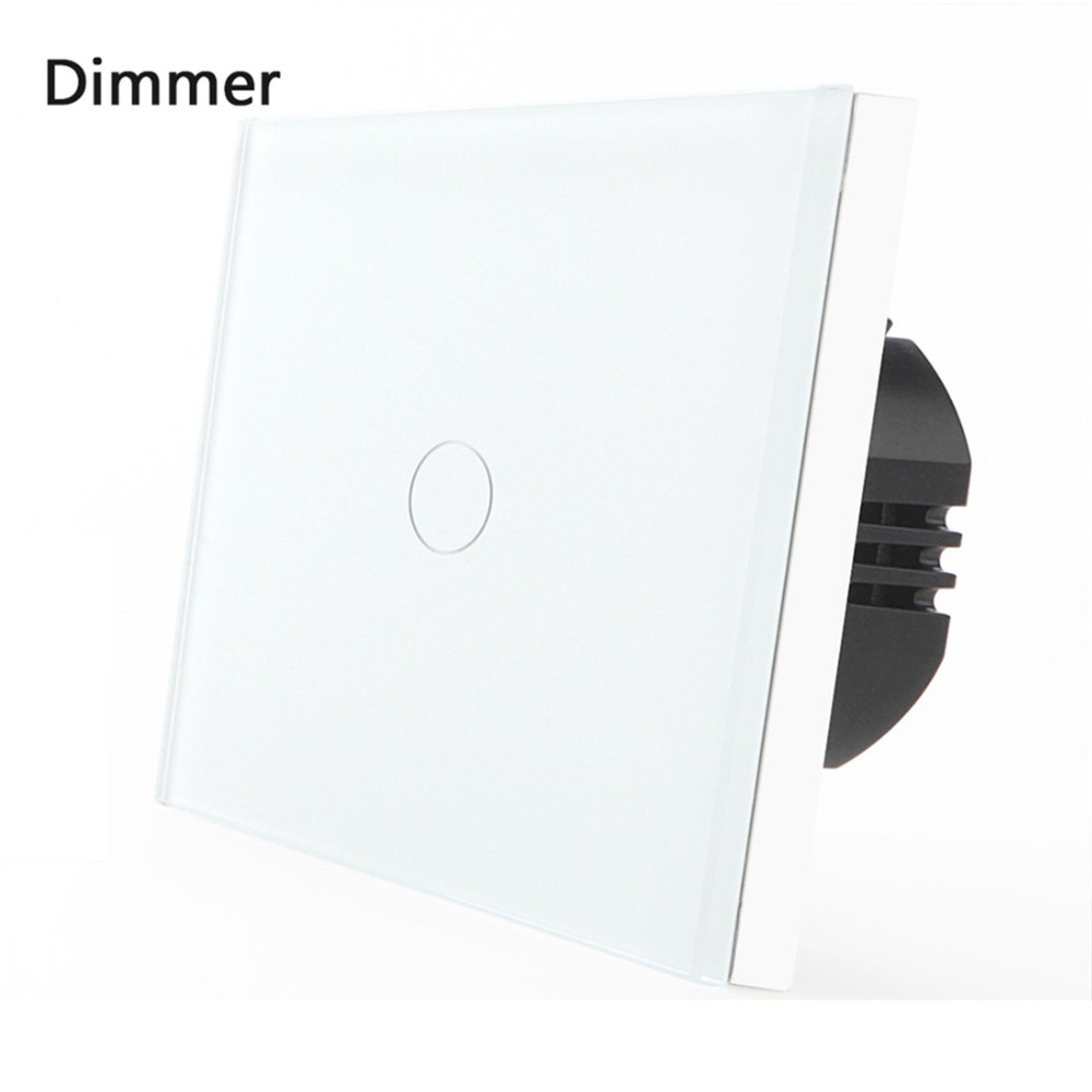 Bseed 240v Touch Dimmer 1 Gang 1 Way Dimmable Switch With Glass Panel Black Touch Switch Dimmer Eu Uk Us Au bseed 240v touch switch 1 to 3 gang touch switch dimming led with glass panel white black gold dimmer switch us au eu uk