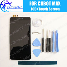 CUBOT MAX LCD Display+Touch Screen 100% Original LCD Digitizer Glass Panel Replacement For CUBOT MAX+tools+adhesive
