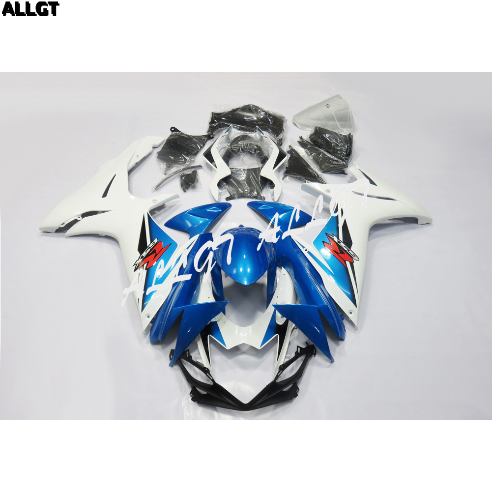 For <font><b>Suzuki</b></font> <font><b>GSXR</b></font> <font><b>600</b></font> / 750 2011 2012 2013 Blue <font><b>Fairing</b></font> <font><b>Kit</b></font> Bodywork Pre-drilled ABS image