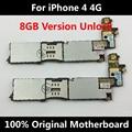 Baixo preço 100% original oficial motherboard desbloqueado para iphone 4 4g bom trabalho mainboard lógica 8 gb com fichas completas ios placa