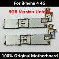 Precio bajo 100% original desbloqueado placa base oficial para iphone 4 4g buena lógica mainboard 8 gb con fichas completas de ios junta