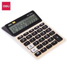 цена на Deli EM00951 Calculator 12 digit Metal office finance desktop calculator dual power solar EM00951