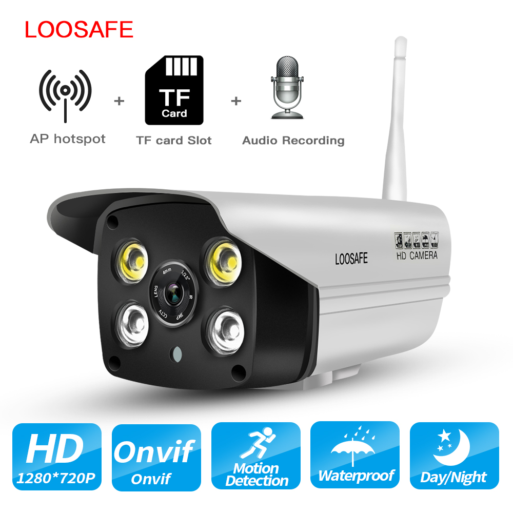 LOOSAFE HD Home Security IP Camera Wi-Fi Indoor Outdoor Waterproof with Hotspot Onvif Night Vision day&nigh Full Color Cameras elitepb 1 3mp 960p hd wireless ip camera wi fi indoor outdoor home security camera waterproof day and night