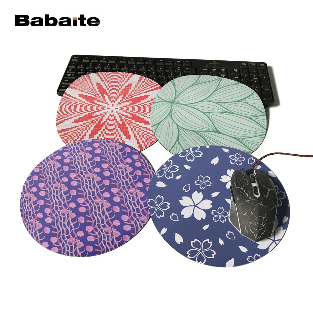 Babaite Goma de impresión flor azul ratón juego Oficina mousrmat ...