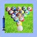 5 #16 Peças Jogo de bola para Snookball Snook, Grande 22 cm Snooker Futebol Futebol com Bomba de Ar