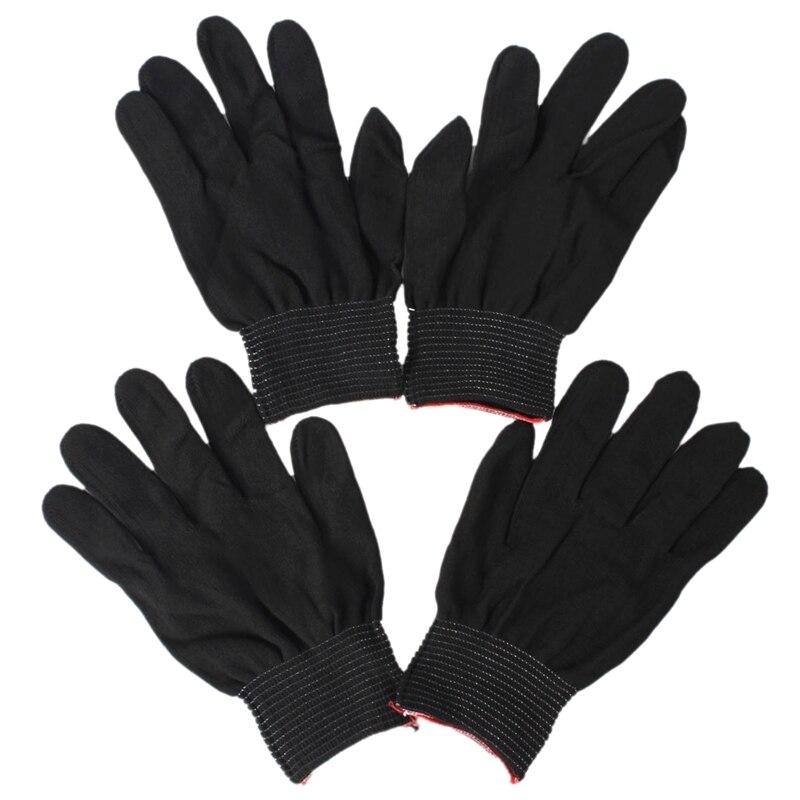 2 Pair Of Antistatic Nylon Work Gloves Nylon Gloves, Black