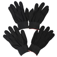 2 pair of antistatic nylon work gloves gloves, black