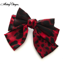 3 layers Leopard Print Barrette Hairgrips Big Large Bow Hairpin For Girls Ladies Hair Clip Fashion New Arrival Hair Accessories