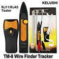 KELUSHI 2016 El Más Nuevo Perseguidor Del Cable de Teléfono RJ11 RJ45 Cat5 Cat6 Ethernet LAN Red de Cable Tester Detector Buscador Line TM8