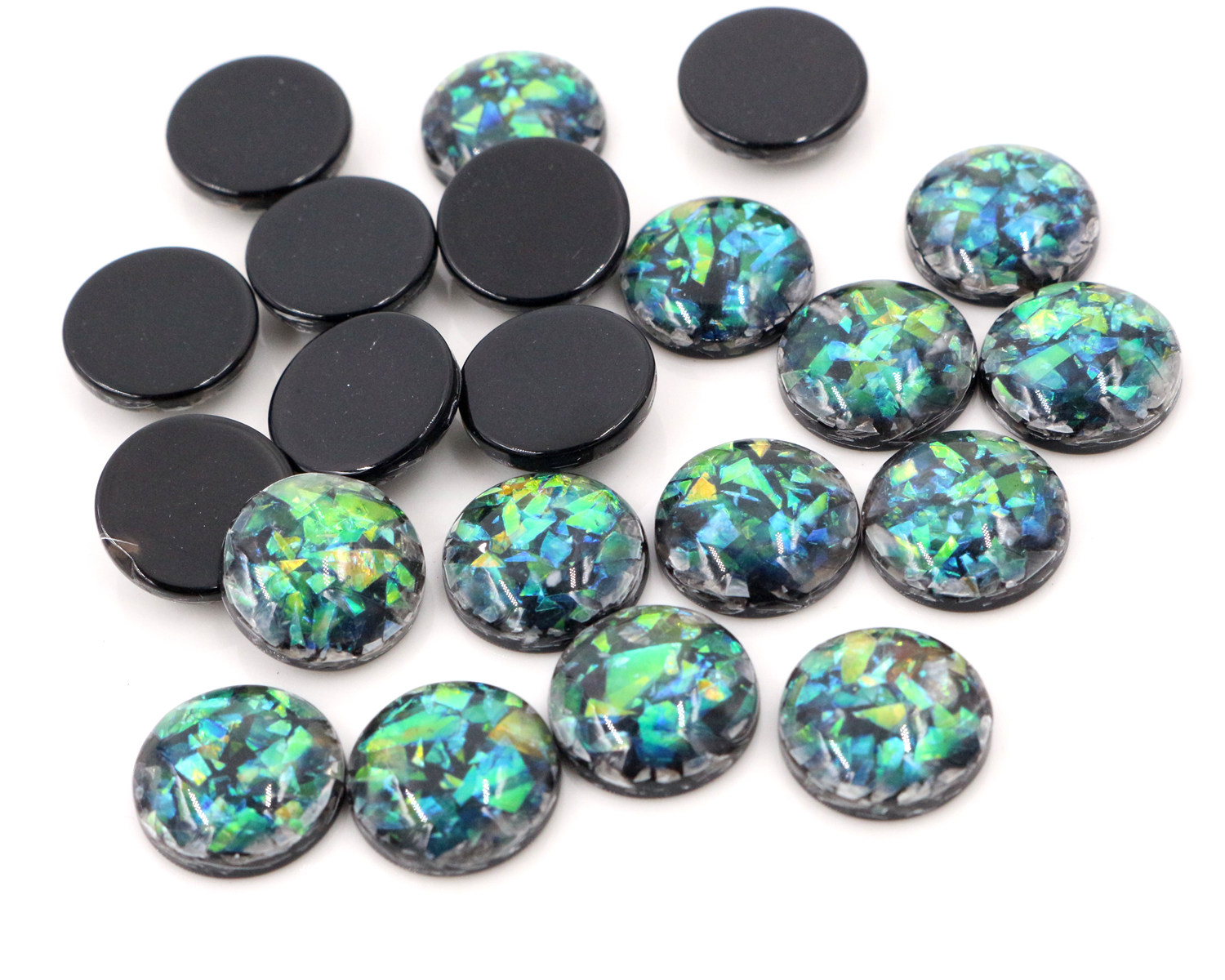 New Fashion 40pcs 12mm Black Colors Built-in metal foil Flat back Resin Cabochons Cameo-V6-23New Fashion 40pcs 12mm Black Colors Built-in metal foil Flat back Resin Cabochons Cameo-V6-23