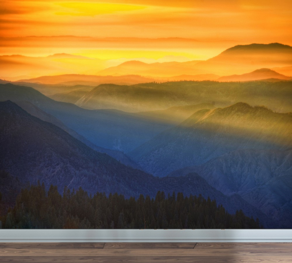 Us 190 50 Offfree Shipping Sunset Glow Alpine Red Sun Scenery Simple Wall Custom 3d Wallpaper Bedroom Living Room Decoration Cheap Mural In