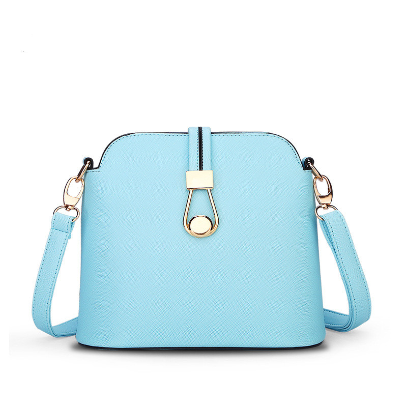 Spring  Summer New Candy Color Fresh Small Women Shoulder Bag Fashion Shell Women Messenger Bag Sky Blue Beige Colors Q5