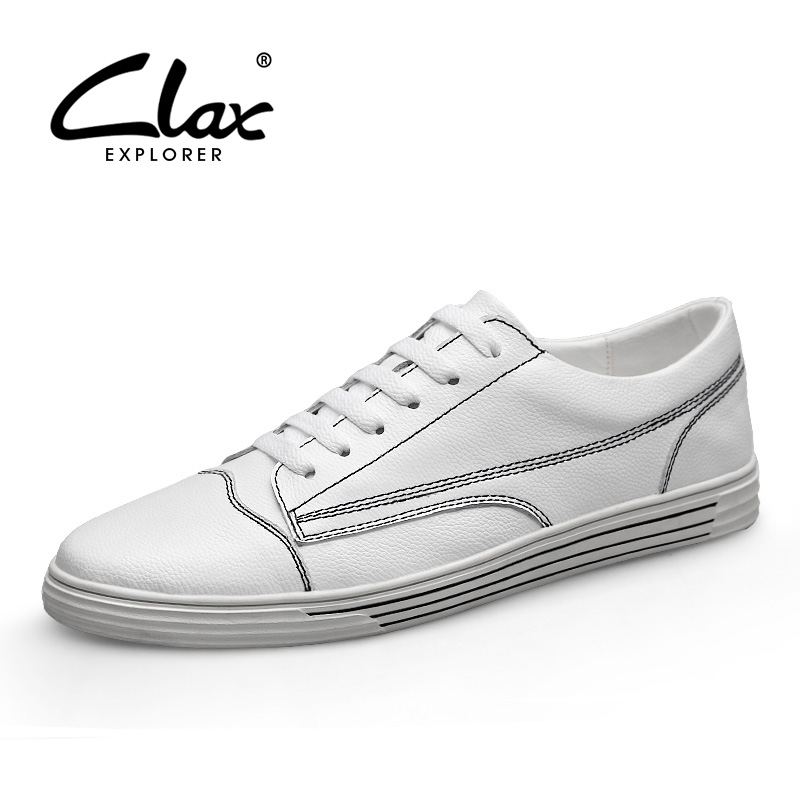 CLAX Man Fashion Shoes Genuine Leather Spring Summer Leather Shoe Casual Sneakers chaussure homme designer luxury men shoes Soft men leather casual shoes lace up man flat luxury fashion chaussure homme soft zapatos hombre summer men genuine leather shoes