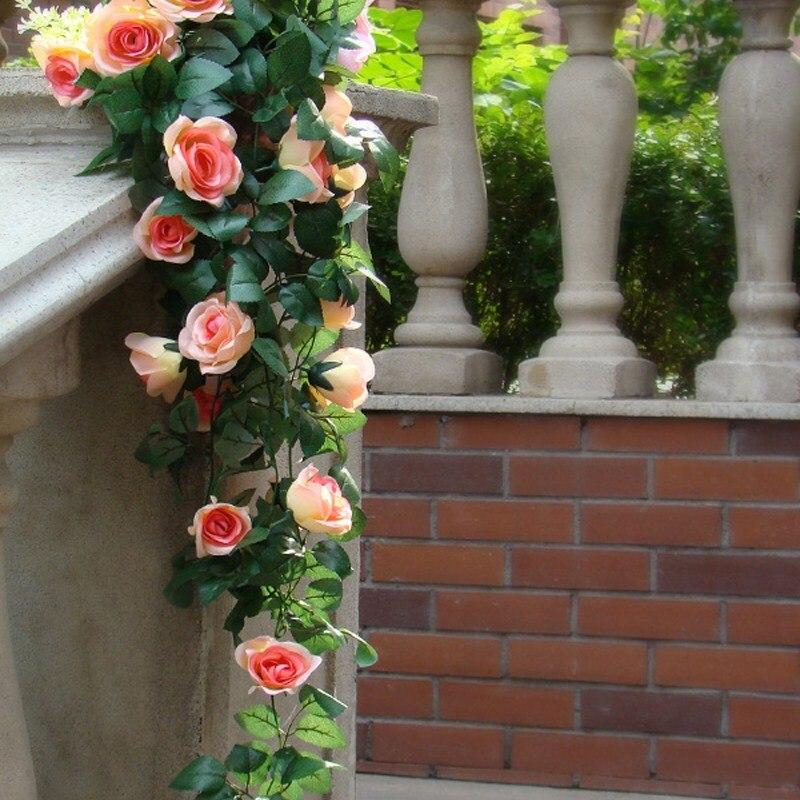 90cm kunstlik siidist roosikirvri võltslill Ivy viinamarjade lehed - Pühad ja peod - Foto 3