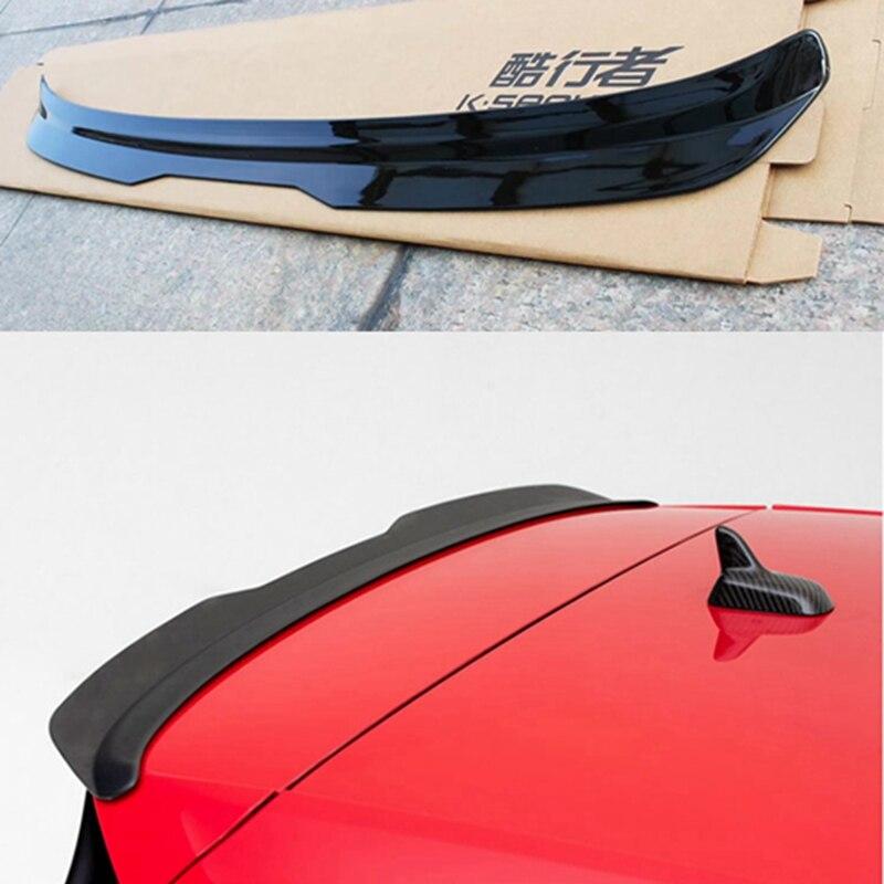 Volkswagen GOLF için MK7 MK7.5 spoiler 2014-2018 GOLF 7 GOIF 7.5 spoiler yüksek kaliteli ABS malzeme araba arka kanat renk arka