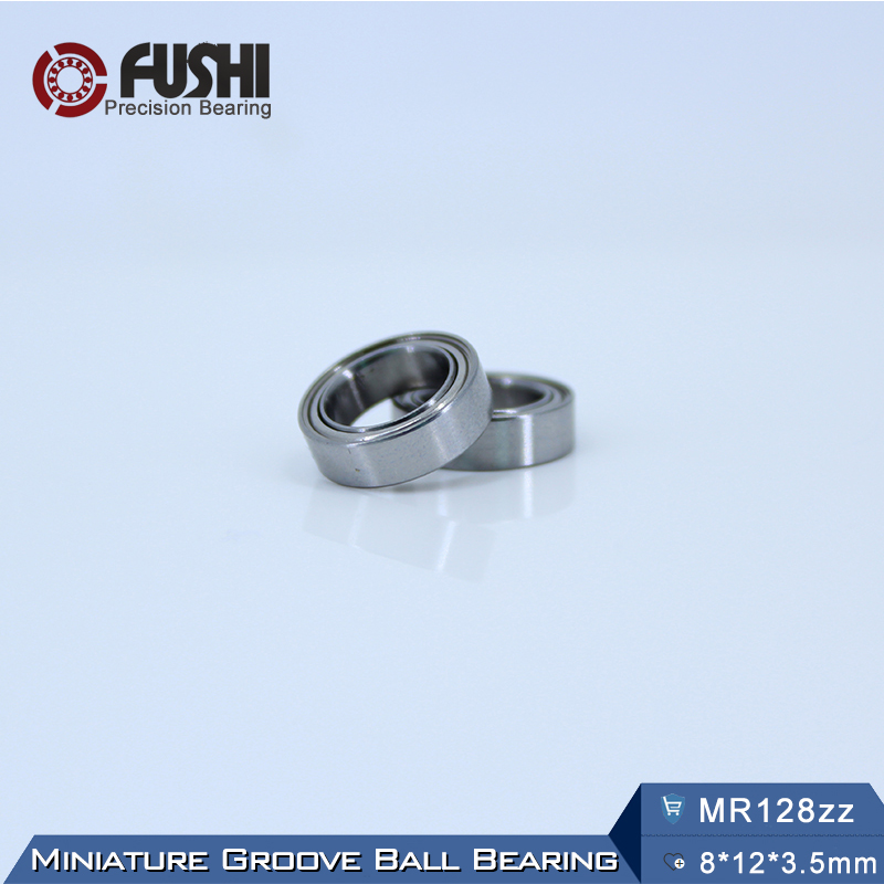купить MR128ZZ Ball Bearing 8x12x3.5 mm 10Pcs ABEC-5 Miniature Metric Chrome Steel L-1280ZZ W678ZZA MR128 Z ZZ Bearings MR128Z по цене 926.35 рублей
