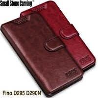 Carteira De Silicone macio Caso Folio Capa de Couro Com Função de Suporte Para LG L Fino D295 LG L Fino Dupla D290N caso de telefone capa Coque