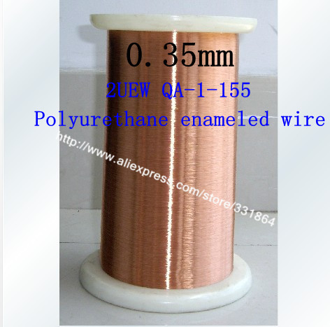 Free shipping 0.35mm *500m QA-1-155 Polyurethane enameled Wire Copper Wire enameled Repair cable 0 1mm 1000m pc length qa 1 155 polyurethane enameled wire copper wire enameled repair