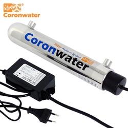 Coronwater 1gpm вода УФ Дезинфекция стерилизатор система очистки для бытового фильтра для воды