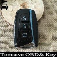 Kostenloser Versand Für Hyundai Santa Fe FOB Smart-Remote-Key Karte 433 Mhz ID46 Chip 3 Tasten Keyless Entry Key FCCID: 2W600