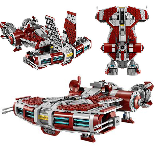 Jedi Space War Defender-Class Cruiser Jedi style Model Building Block Toys Compatible Legoings Star Wars 75025 набор 1toy space wars future defender т58795 86681