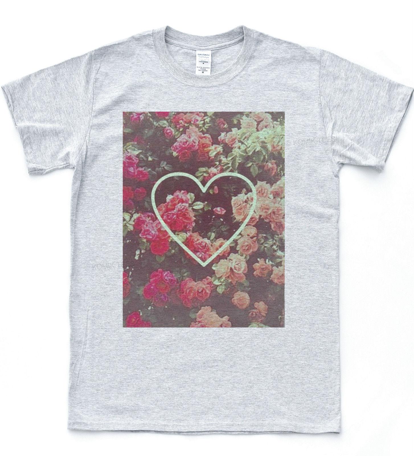 Rose Love Heart T Shirt