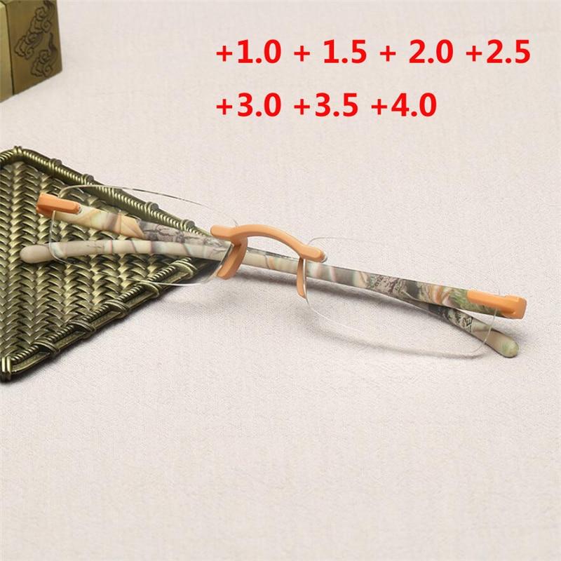 3,5 Kleine Randlose Pc Linsen Lesebrille Frauen Männer Hyperopie Brille Lupe 1,5 2,5 1,0 2,0 3,0 4,0