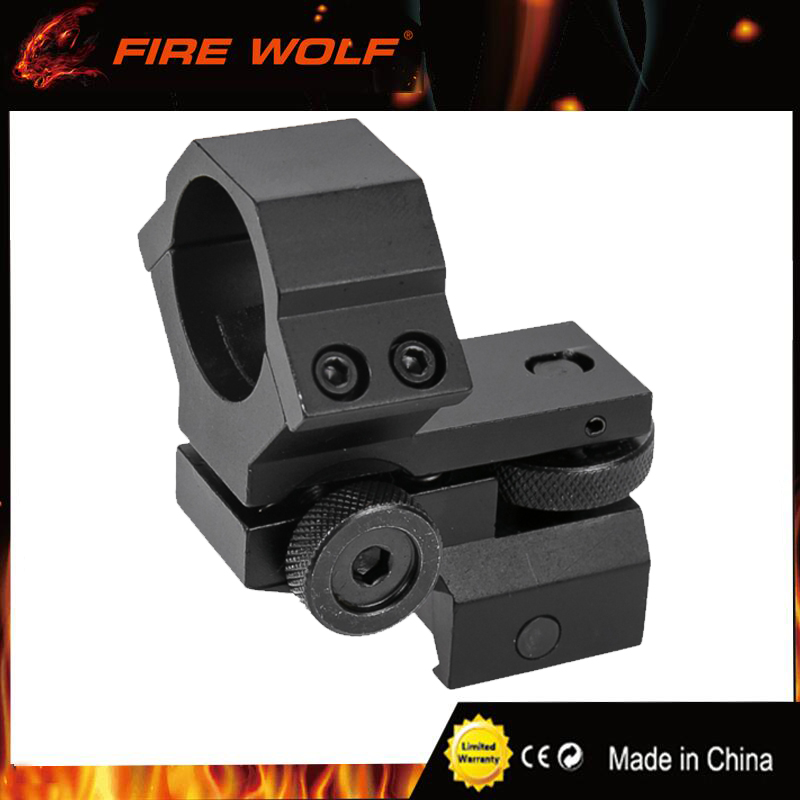 FIRE WOLF 25.4mm Ring Tactical Laser Sight Flashlight Rifle Scope Low Mount Adjustable Elevation Windage for 20mm Rail System