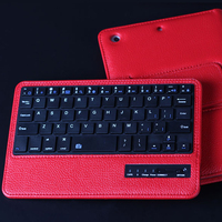 For IPad Mini 2 Mini 3 Mini 4 Wireless Bluetooth Keyboard PU Leather Cover Protective Smart