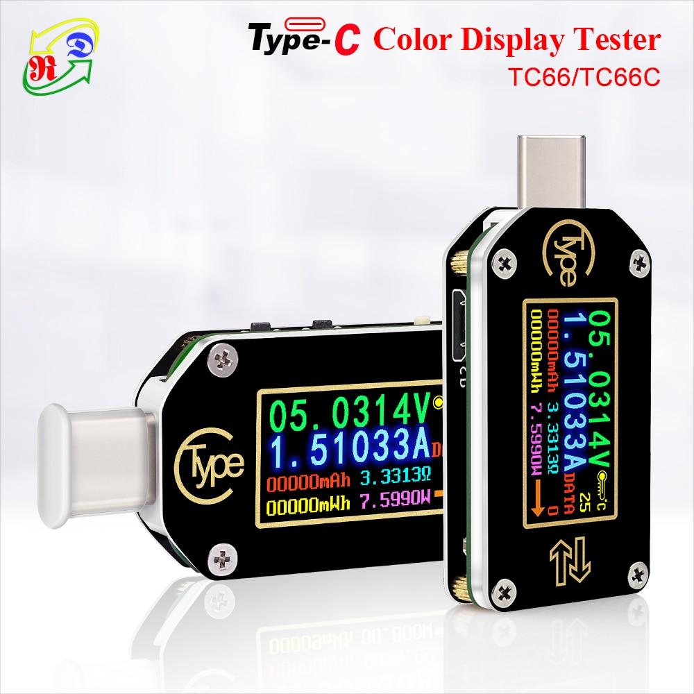 RD TC66/TC66C  Type-C PD Trigger  USB-C Voltmeter Ammeter Voltage 2 Way Current Meter Multimeter PD Charger Battery USB Tester
