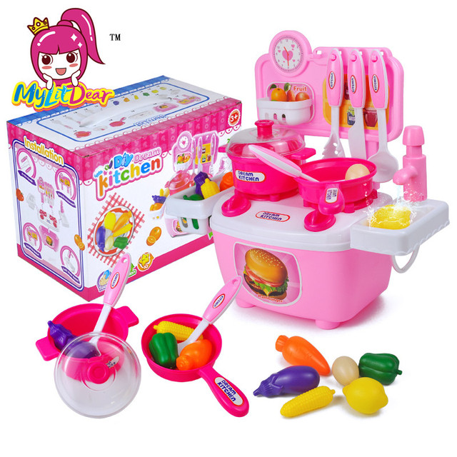 Baby Toy Artificial Tableware Kitchen Toys House Kid S Utensils Cooking Pots Children Pans Food Water Pretend