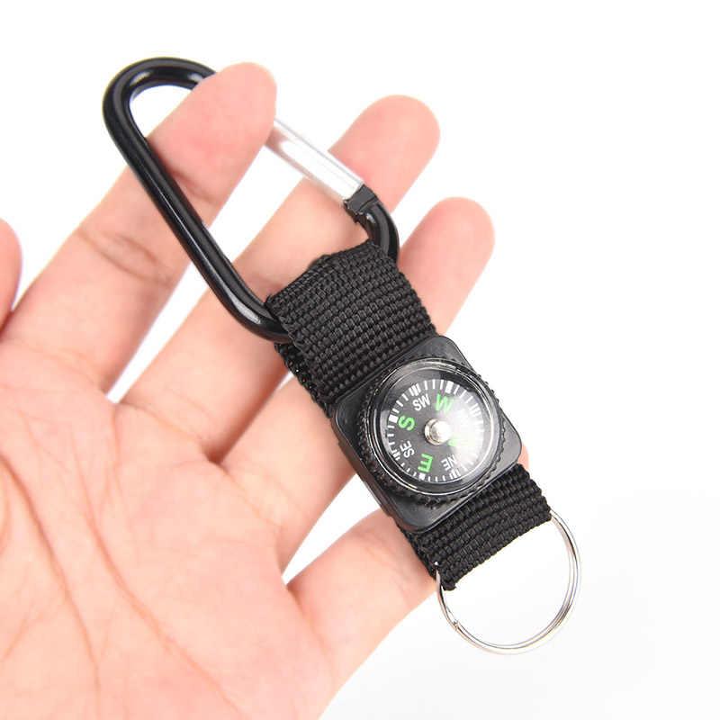 高品質安全サバイバルツールミニ多機能 3 1 でハイキング旅行コンパス温度計カラビナキーリング応急処置キット