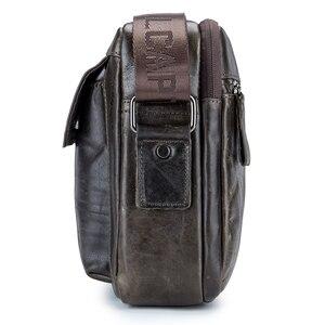 Image 3 - ABDB VINTAGE ของแท้กระเป๋าหนังผู้ชายกระเป๋าชายไหล่กระเป๋า Crossbody กระเป๋า Cowhide ความจุขนาดใหญ่เดินทาง Messenger B