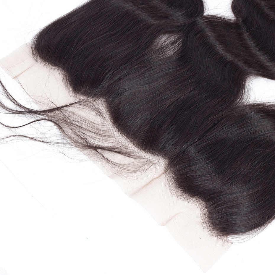 Габриель малазийские волнистые волосы 13x4 без шнуровки/средний/три части уха до уха не Реми человеческие волосы кружева закрытие натуральный цвет