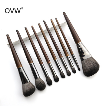 OVW All Goat Hair 7/8/9 PCS Makeup Brush Set Professional Cosmetic conjunto pinceis de maquiagem for Eye Shadow Face Contour 1
