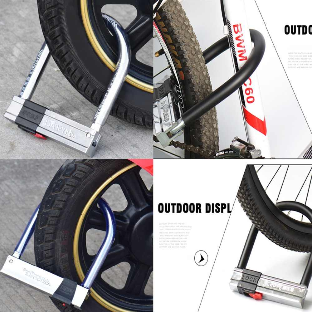 Strong Security Motorcycle Safety Accessory Bike Bicycle Lock U Lock Anti Theft
