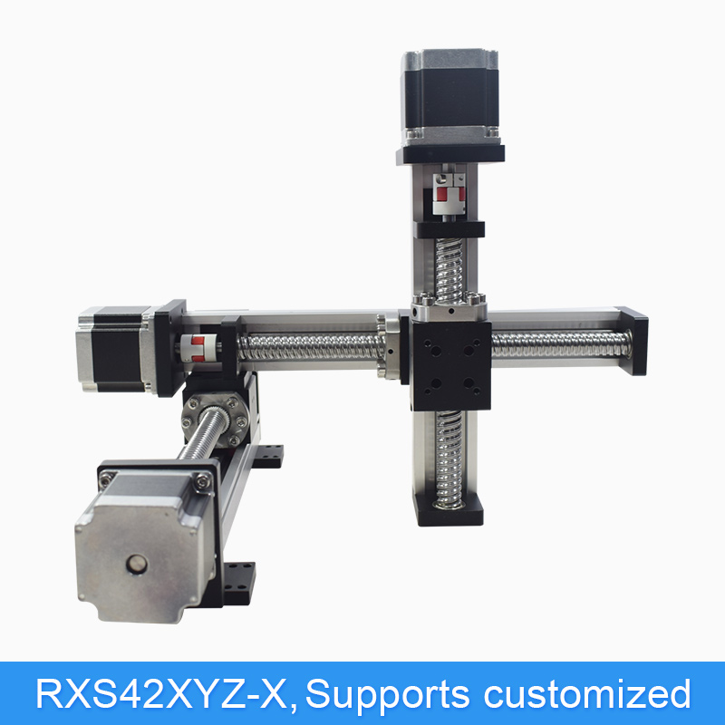 US $394 25 5% OFF|Gantry XYZ CNC Linear Actuator Motorized Linear Stage  Table Slide Motion System For Laser Cut Z Axis 500 mm Stroke-in Linear  Guides