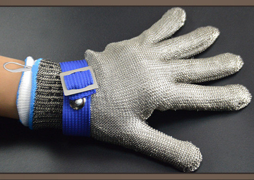 Image 4 - Anti cutting gloves Stainless steel grade 5 steel wire plus PE steel ring iron gloves Anti cutting metal slaughter woodworker-in Safety Gloves from Security & Protection