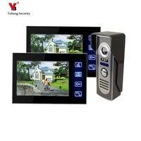 Freeship By DHL 7inch Door Intercom Night Vision Video Doorphone Rainproof Touch KeypadHome Doorbell Video Door