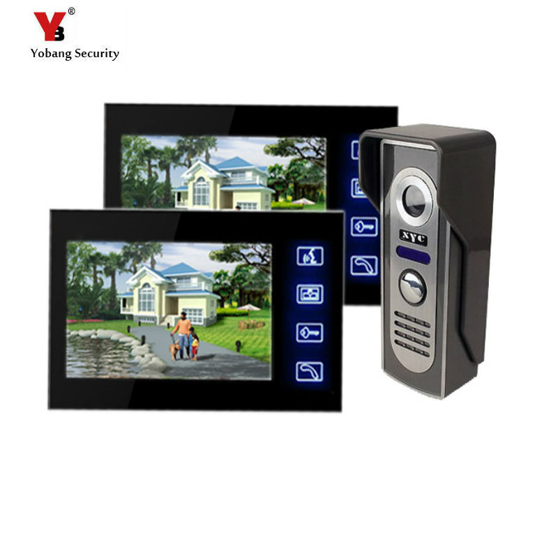 Yobang Security Freeship 7 inch Video Intercom Night Vision Doorphone Rainproof touch Ke ...