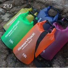 ZYJ 2L 5L 10L 15L 20L Portable Swimming Waterproof Storage Dry Bag Bucket Rafting Drifting Canoe Travel Kit Beach Bag Pouch