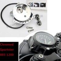 Мотоцикл хромированные кафе датчик и фар крепление для Harley Sportster гладить XL883 1200R nightster roadster
