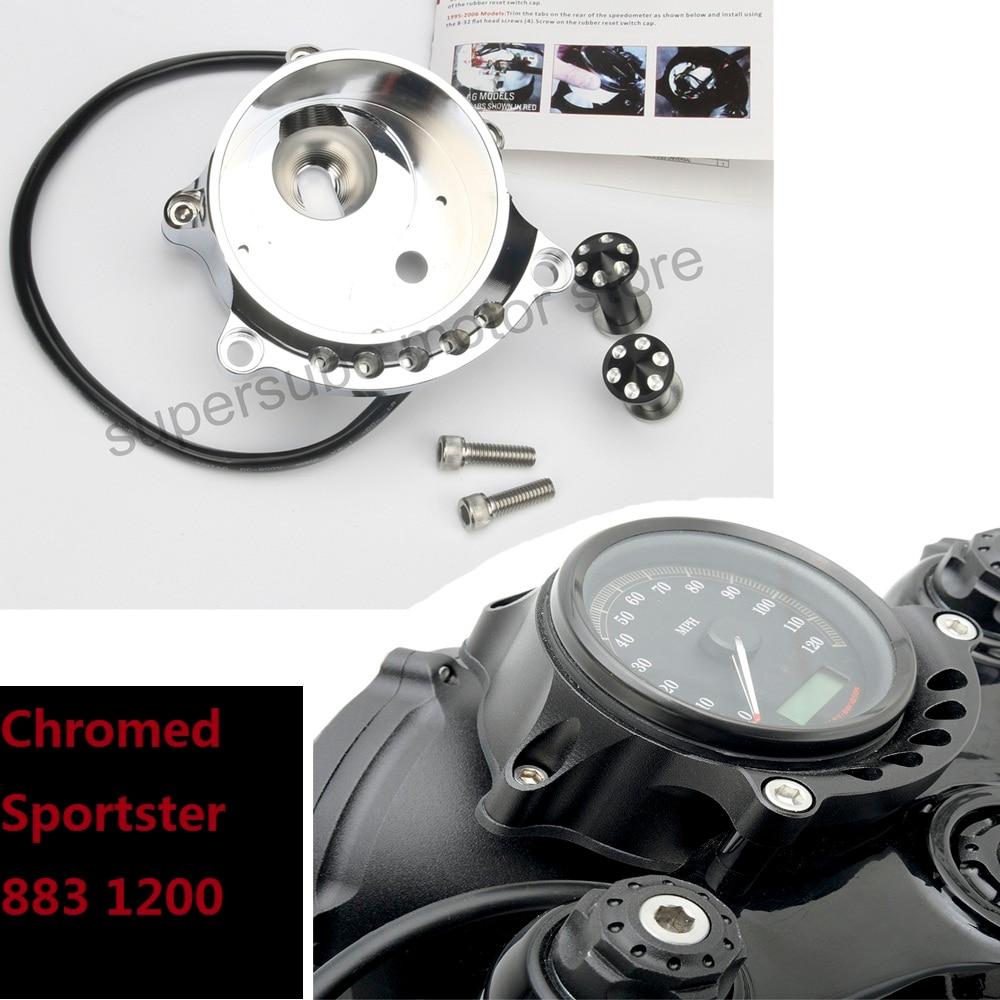 Мотоцикл хромированный кафе Манометр и крепления фар для Harley Спортстер XL883 утюг 1200р Nightster родстер