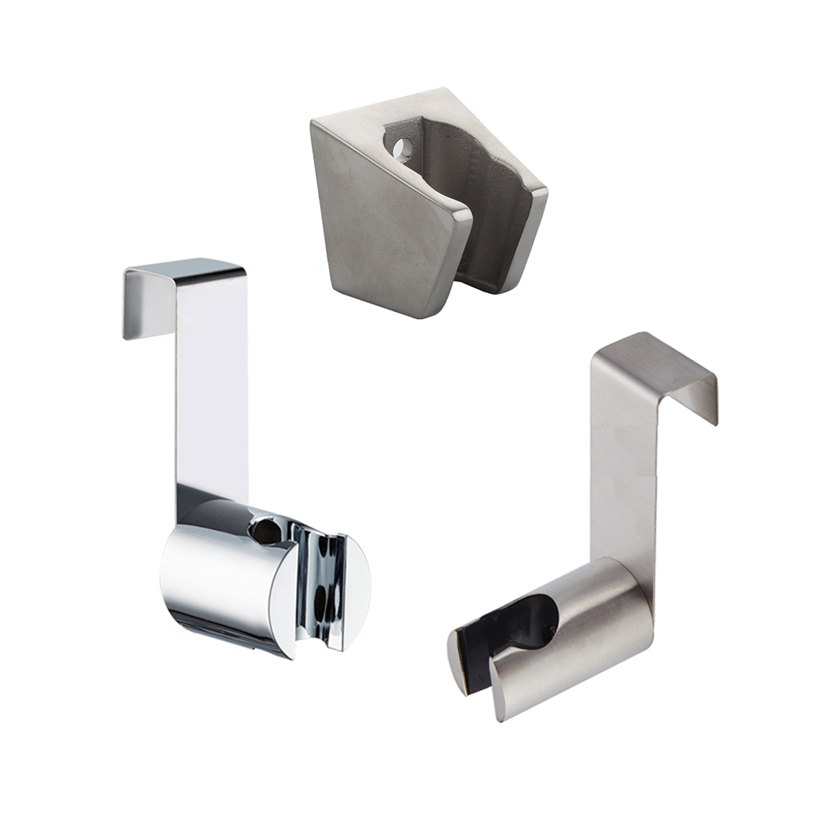 Free Nail Bidet Hook Holder Stainless Steel Hanger ABS Brushed Socket Wall Shower Head Holder Shattaf Sprayer Toilet Tank