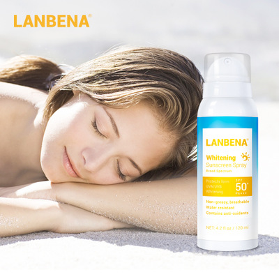 LANBENA Sunblock SPF 50PA++ Brightening Spray Sunscreen Sunblock Breathable Effectively Against Radiation Water Resistant 120ml