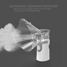 Inhaler Nebulizer Portable Operated Replaceable Battery USB Rechargeable Ultrasonic Fine Particles Less Residue