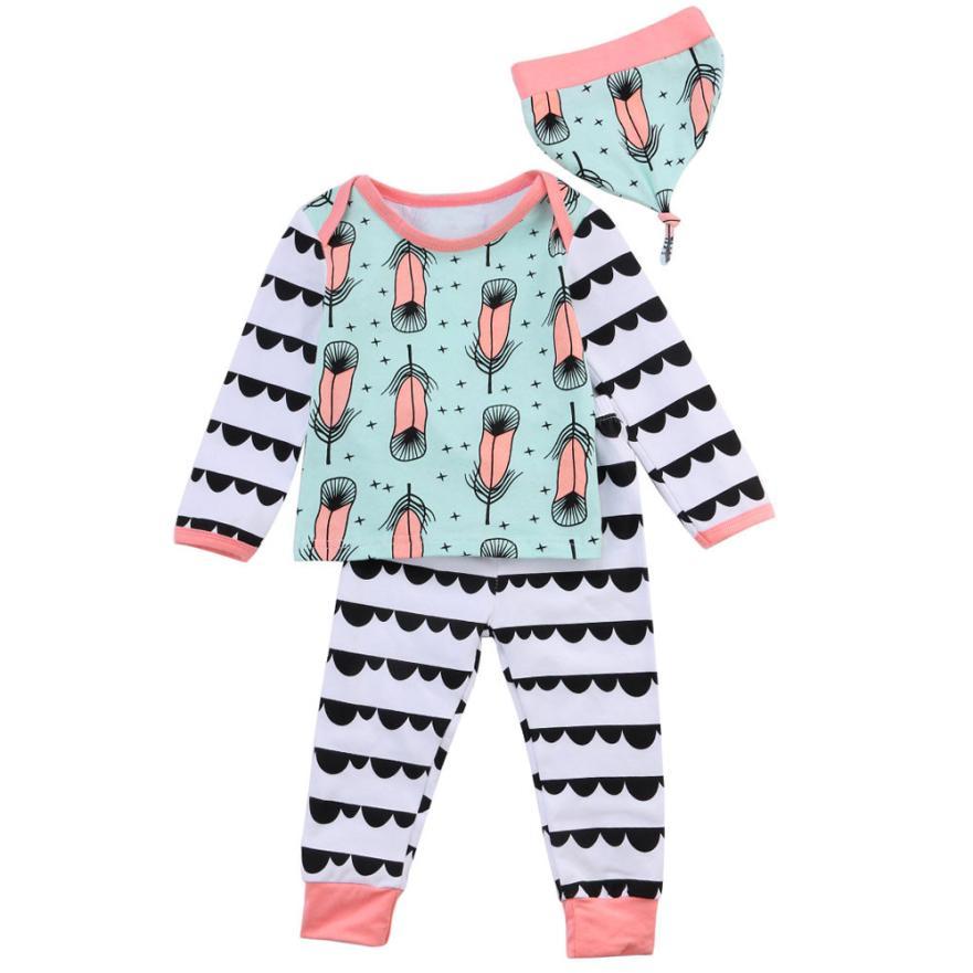 Baby Clothing T-Shirt Pants Outfits-Set Long-Sleeve China Hat Moda Soft 3pcs Comfortable