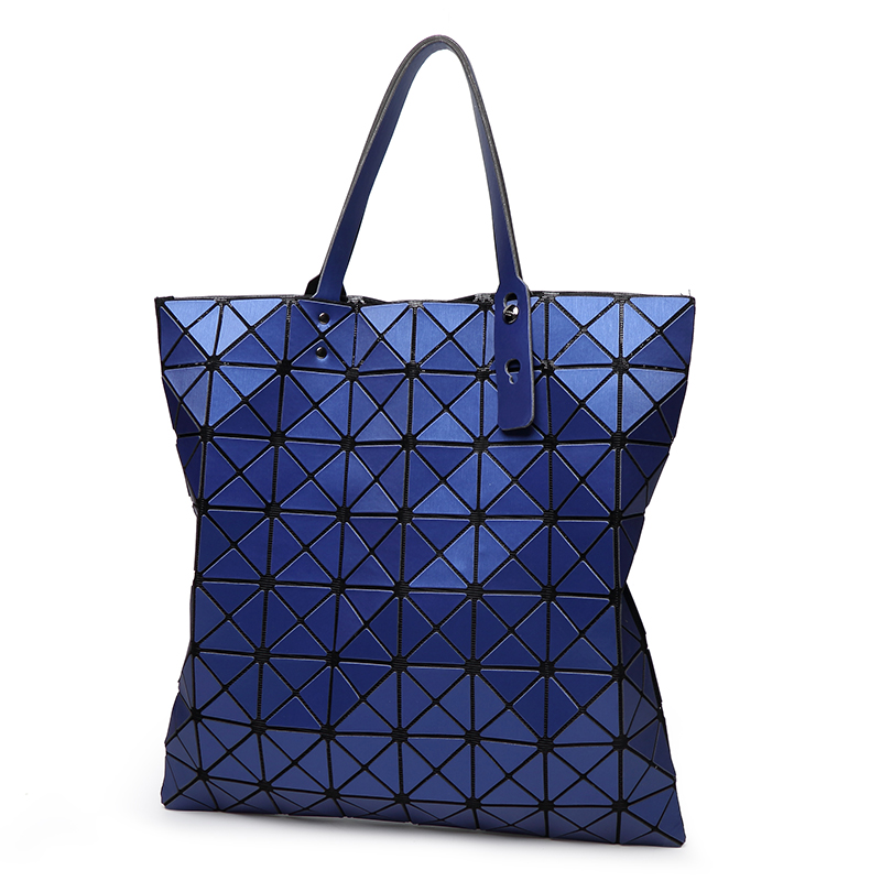 ALIEME Women Big Shoulder Bag Bao Bao Women Matte colors bag laser sac Tote bags geometry Quilted Fold over Blue handbags 8*8 8 colors 5 8 fold over elastic black with metallic gold diamond 50yards per lot