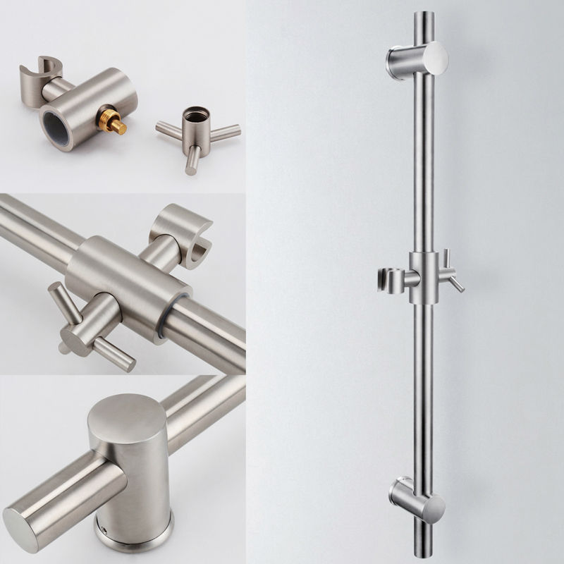 High Quality KES F203 2 Stainless Steel Slide Bars With All Brass Handheld Shower Bracket  Height And Angle Adjustable, Polished/Brushed Steel In Sanitary Ware Suite  From ...